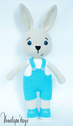 Crochet Pattern Bunny Daddy von VenelopaTOYS auf Etsy