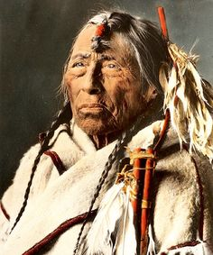 Eagle Arrow. A Siksika Man. Montana. Early 1900s. Glass Lantern Slide By Walter Mcclintock