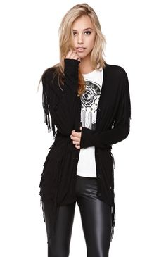 Womens Rvca Sweater - Rvca Whiskey Fringe Cardigan - Price $61.95 | shop Rvca sweaters
