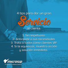 #TipsMicrosip 4 tips para dar un gran servicio al cliente