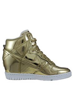 meet 83f6f 1d2a9 Nike Dunk Sky Hi Limited Edition Silver   Blue Cream Nike Gold, Adidas  Shoes Outlet,