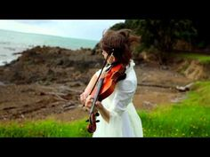 This is  Lindsey Stirling! And she just happens to be playing Lord of The Rings music. It is a very good combination