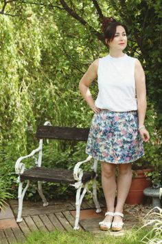 Botanical floral cotton skirt. #CottonSocialCollection