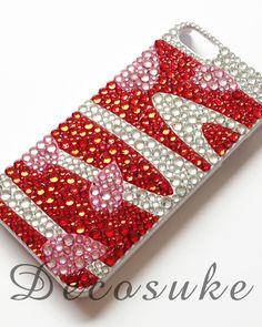 """sakura-red""【iPhone case 5 他】  *スマホ*デコ*ケース*手作り*"