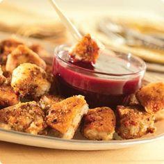 Knott's Cajun Chicken Bites with Raspberry Mustard Dipping Sauce Recipe