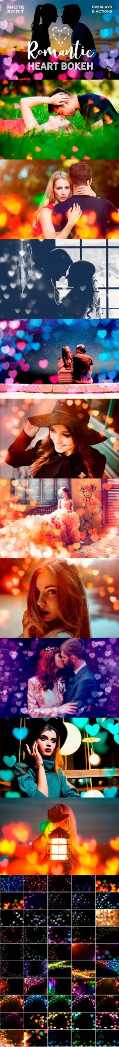 Romantic Heart Bokeh Photo Overlays by PhotoSpirit on @creativemarket