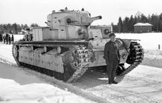 russian vehicle 1940 | ... Soviet T-28 tank captured by Finnish forces, Varkaus, Finland, 1940