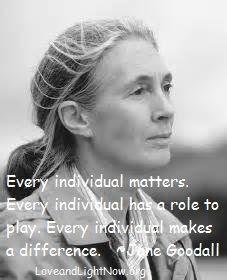 Inspirational Quotes By Jane Goodall. QuotesGram via Relatably.com