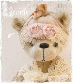 bear pattern Leonie 7.75 inch epattern bear artist by Astridbears, $13.00