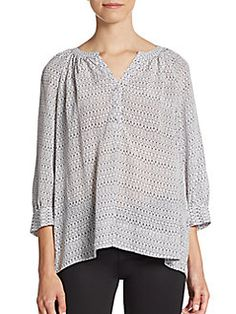 Joie - Izzy Printed Silk Blouse