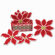 Craftways® Poinsettia Coasters with Holder Plastic Canvas Kit Was: $16.00                     Now: $12.99
