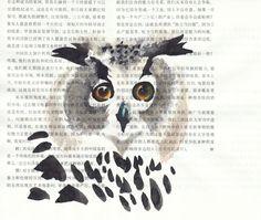 owl by Huang Yongyu