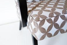 Upholstered furniture Chair Czechoslovak design beech wood grey fabric