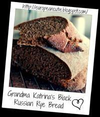 Grandma Katrina's Black Russian Rye Bread