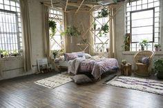 Bohemian bedroom with DIY wooden frames and plants  gravityhomeblog.com - instagram - pinterest - bloglovin