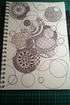 Judy's Zentangle Creations: Circles
