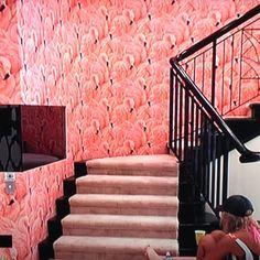 Just Kids Wallpaper Blog: Big Brothers Pink Flamingo Wallpaper