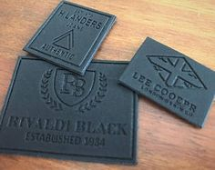 100 Leather Labels - Brown or Black Leather Patches - Made in USA Company Leather Label, Custom Leather, Patch Design, Piel Natural, Simple Designs, All About Shoes, Clothing Labels, Printing Labels, Make Design