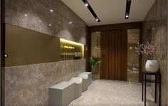 House Design, Foyer Design, Lobby Design, Entrance Foyer, Livingroom Layout, Doors Interior, Modern Interior Design, Entrance Door Design, Entrance Design