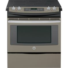 GE Smooth Surface 5-Element Slide-In Convection Electric Range (Slate) (Common: 30-in; Actual 31.25-in)