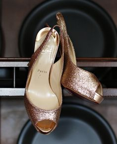 Copper Louboutin Heels | Clark+Walker Studio | blog.TheKnot.com