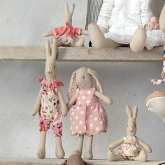 Little Goose Toys - Little Goose Toys Maileg Bunny, Bunny Toys, Baby Bunnies, Bunny Hutch, Toy House, Fabric Toys, Sewing Toys, Shabby Chic, Soft Dolls