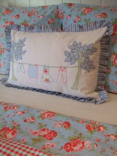 cute pillow, cute bed linens