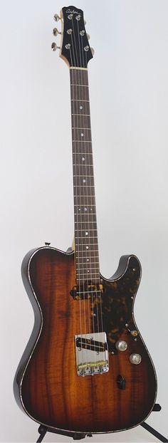 ASHER 2014 Custom Shop T Deluxe™ Guitar - Figured Koa, Deluxe Hardware