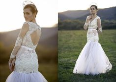 Wedding mermaid dress with lace by AtelierDeCoutureJK on Etsy