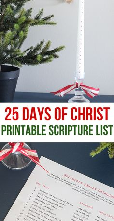 25 Days of Christ Idea- Scripture Advent Calendar- Keep Christ in Christmas- Christ-Centered Christmas Family Traditions