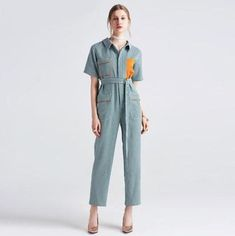 Jumpsuits For Women Formal Jumpsuit, Navy Jumpsuit, Jumpsuit Outfit, Short Jumpsuit, Rompers Dressy, One Piece For Women, Green Fabric, Jumpsuits For Women, New Fashion