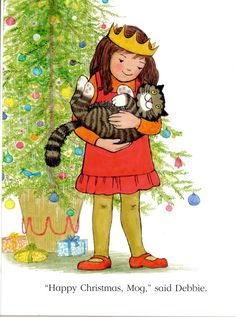 """Mog's Christmas"" by Judith Kerr (http://tygertale.wordpress.com/2012/12/19/december-19th-mogs-christmas/)"