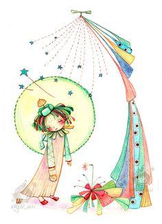 ISTO ME INSPIRA:  MARJORIE ANN com seus desenhos e ilustrações apaixonantes ... e suas Bambinas !!  No blog: http://pakatutti.blogspot.com.br/2012/12/para-ver-e-para-querer.html