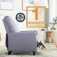 @We Love Giveaways #BONZY #Giveaway #contest #sweepstakes {US}(Ends 3/22) #Win #BONZY Push-Back Linen Fabric Recliner Chair #Prize link: http://amzn.to/2FWfDp8 1 Winner ---------------------------------------------------------------------- 1st, Like this post, and comment with #WeLoveGiveaways #BONZY  2nd, Click the link and comment with what color you like most  Good luck.