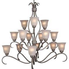 Maxim Lighting Basix 15-Light Chandelier-10129ICSN - The Home Depot