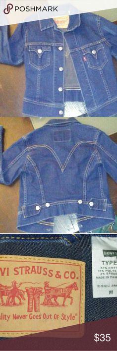 Levi's denim jacket. Levi's denim jacket size medium, gold stitching. Levi's Jackets & Coats Jean Jackets