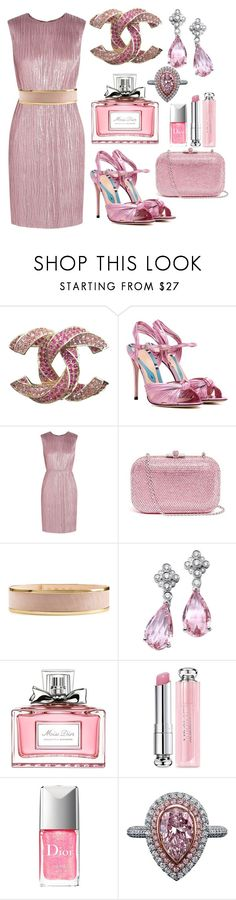 """""""Pink in your 40's"""" by ellenfischerbeauty ❤ liked on Polyvore featuring Chanel, Gucci, Judith Leiber, Balmain and Christian Dior"""