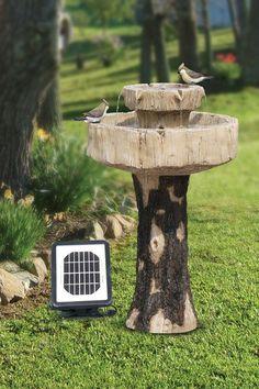 Relaxing Indoor/Outdoor Solar Fountain/Birdbath.