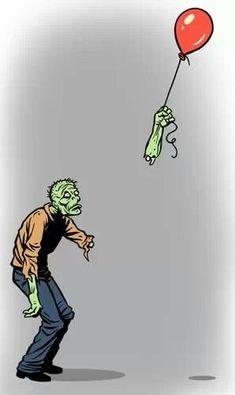 Poor zombie :(