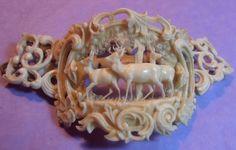 Victorian carved ivory bracelet