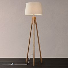 Buy John Lewis Hampstead Wooden Tripod Floor Lamp, Ash Online at johnlewis.com