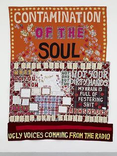 Tracey Emin - Contamination of the Soul (2008, appliquéd blanket)