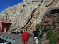 Bergsklättring på bryggan!