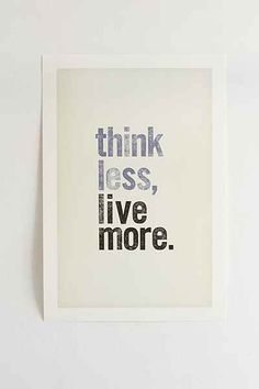 Chloe Vaux Think Less, Live More Art Print - Urban Outfitters