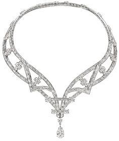 Harry Winston Deel Diamond Cascading Drop Necklace