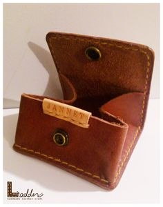 Unisex HandSew Leather Square coin purse by ladderleather on Etsy, $36.88