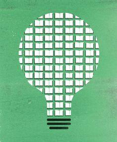 Books feed our ideas / Los libros alimentan nuestran nuestras ideas (ilustración de The Heads of State)