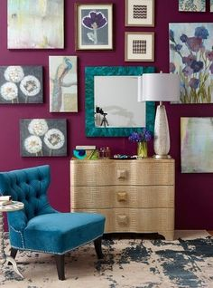 Purple & Blue Bedroom inspiration. i unexpectedly like this.