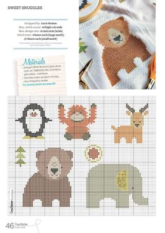 CrossStitcher is Britain's number one cross stitch magazine, and it's packed with beautiful designs for you to stitch and stylish ideas to inspire you. Tiny Cross Stitch, Cross Stitch For Kids, Cross Stitch Animals, Cross Stitch Charts, Cross Stitch Designs, Cross Stitch Patterns, Hand Embroidery Designs, Embroidery Patterns, Knitting Patterns