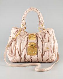 2a0f834ce365 Mattelasse Coffer Tote by MiuMiu ♥ pastel blush light pink nude gold♥ BAG